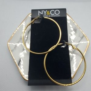 NWT New York & Company Gold Hoop Earrings